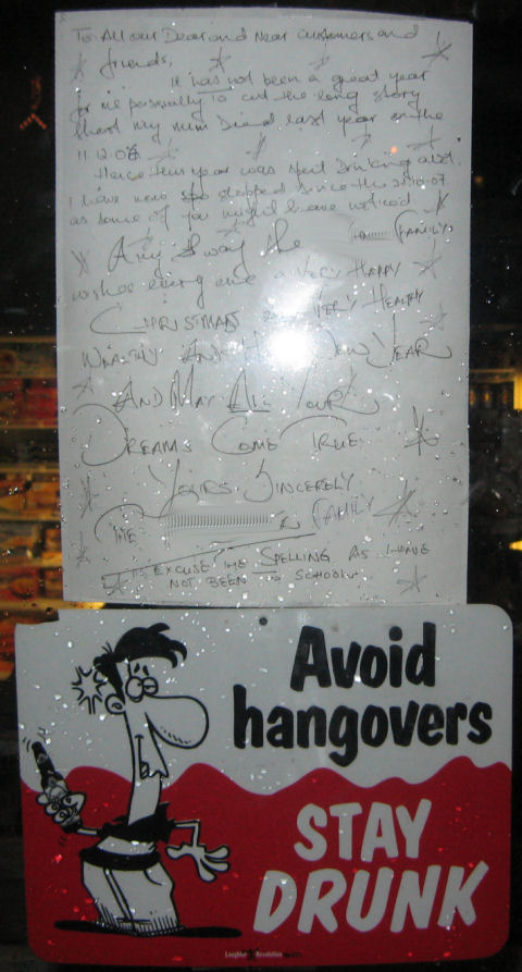 Avoid drinking rather, it would seem.