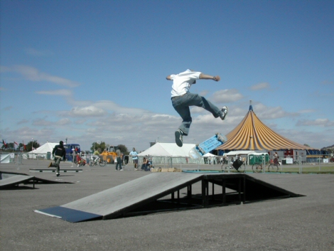 Jumping a big top
